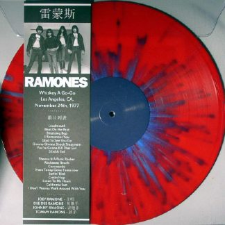 995bdc1601 RAMONES – Whiskey A Go-Go, Los Angeles, CA. November 24th, 1977 (Limited  edition RED PIC LP, 2014)